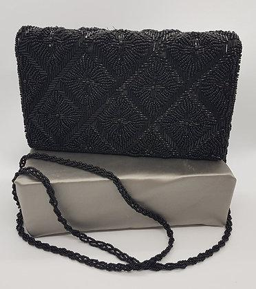 Vintage - Black Beaded Purse