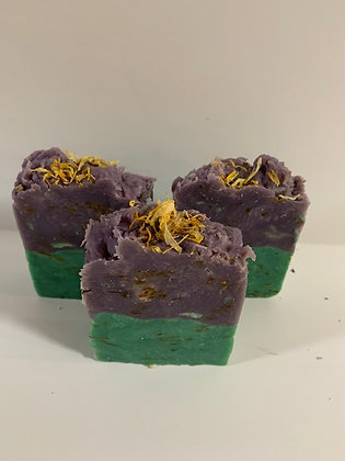 Lavender-Sage Soap with Calendula Petals