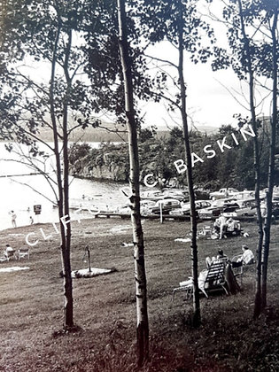1960s Vintage Photo, Day at the Lake