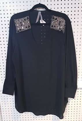 Top Black with Bling