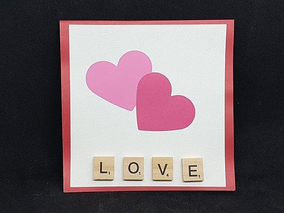 Valentine's Card - Scrabble Love
