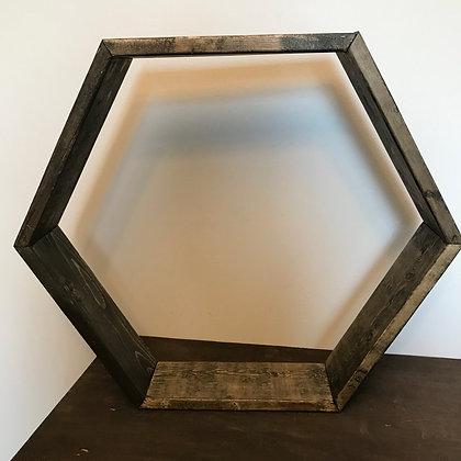 Dark Hexagon Shelf (Large)