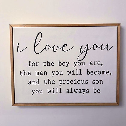 I Love You For The Boy - Sign