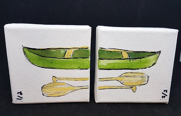 Split Canoe Painting(s)