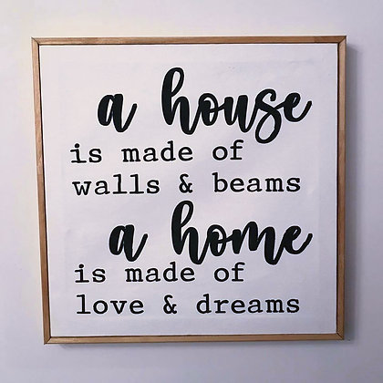 A House Is Made Of Walls - Sign