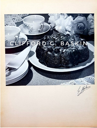 1950s Vintage Photo, Cake and Coffee