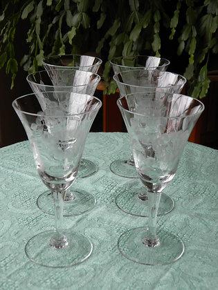 Set of 6 Cornflower Stem Glasses