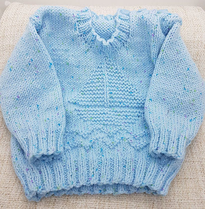 Baby Sweater (Sailboat Pattern)