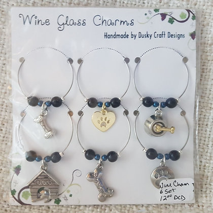 Glass Charms - 6 in Set