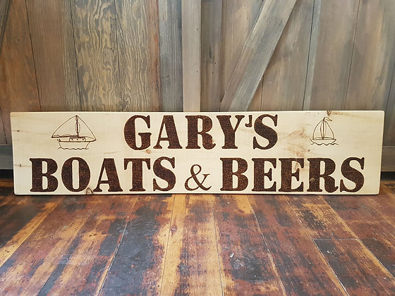 Custom Large Wood Burning Sign