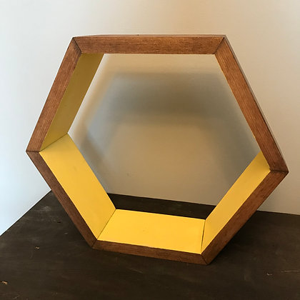 Yellow Hexagon Shelf