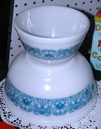 "Pyrex ""Blue Horizon"" Mixing Bowls"