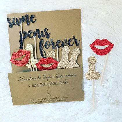 Bachelorette Cupcake Toppers