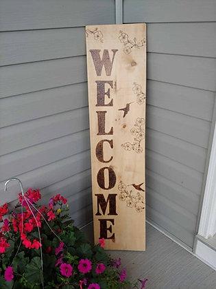 Custom Medium Wood Burned Sign