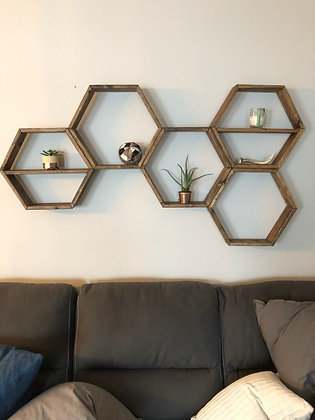 Custom Multi Hexagon Shelving Unit