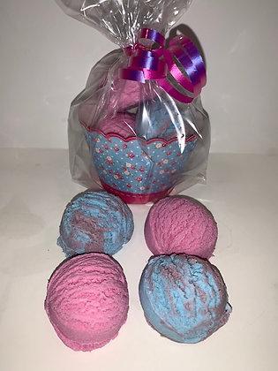 Bubble Gum & Raspberry Bubble Scoops