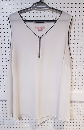 In Every Store...White Blouse with Zipper