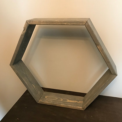 Grey Hexagon Shelf (Large)