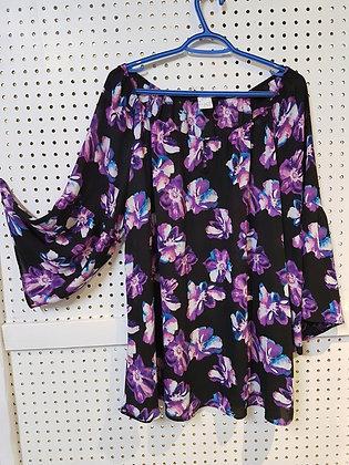 MichelStudio Blouse with Purple Flowers