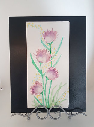 Alcohol Ink on Tile Flowers