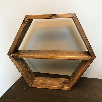 One Shelf Hexagon Shelf