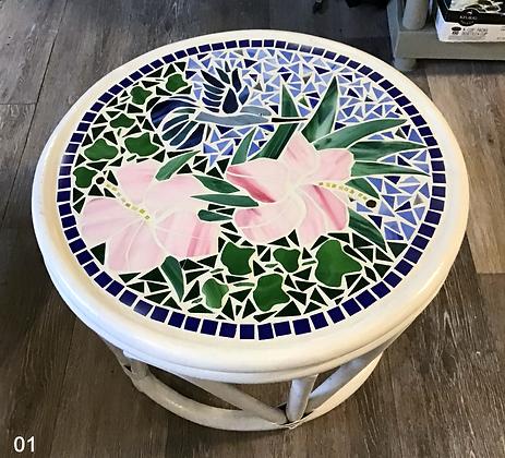 Mosaic Round Rattan
