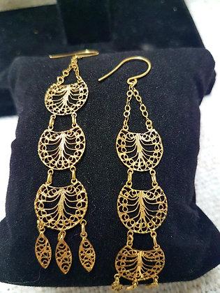 Hanging Earings - 10k Gold