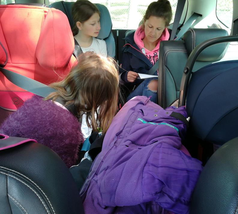 Autositze im Einsatz