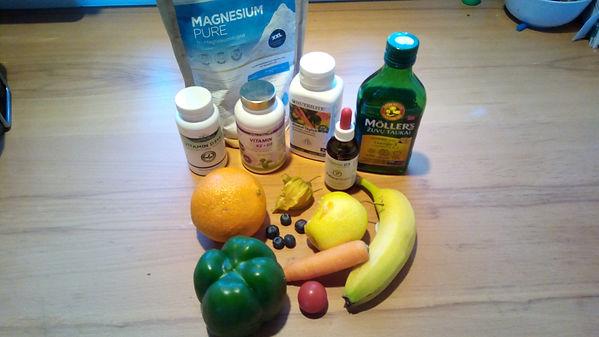 Geunde Ernährung und Nahrungsergänzungsmittel