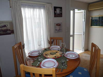 albir oasis park two bedroom mobile home dining room