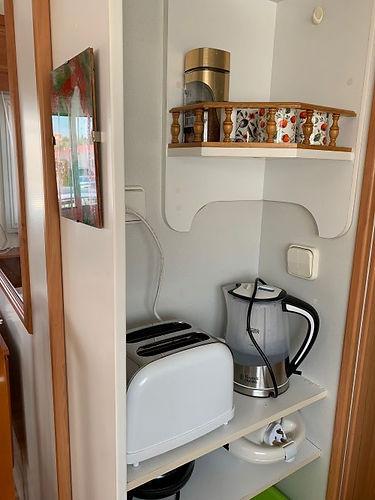 albir oasis park two bedroom mobile home kitchenette