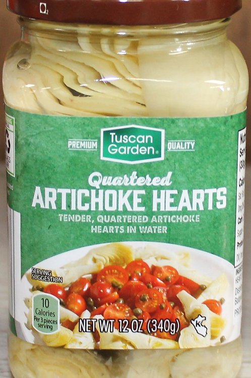 Tuscan Garden Quartered Artichoke Hearts 12 oz