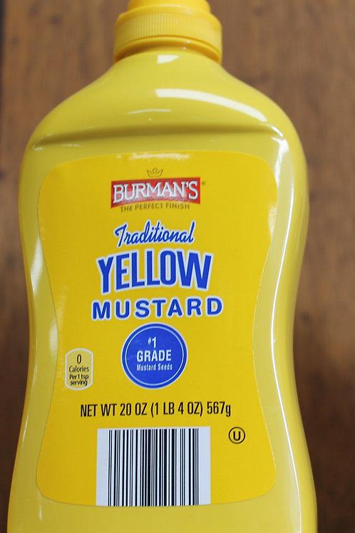 Burman's Traditional Yellow Mustard 20 oz