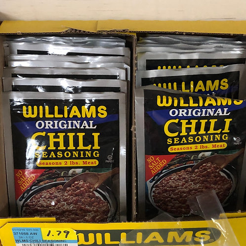 Williams Chili Seasoning 1oz