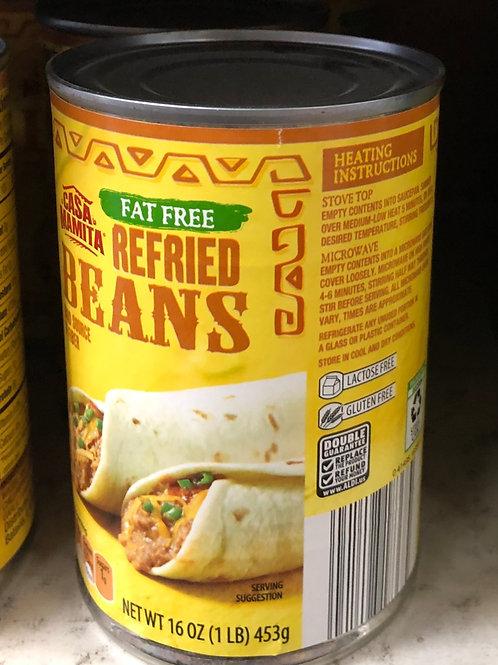 Casa Mamita Fat Free Refried Beans 16 oz