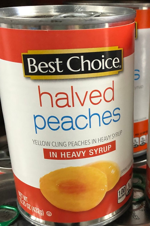 Best Choice Halved Peaches in Heavy Syrup
