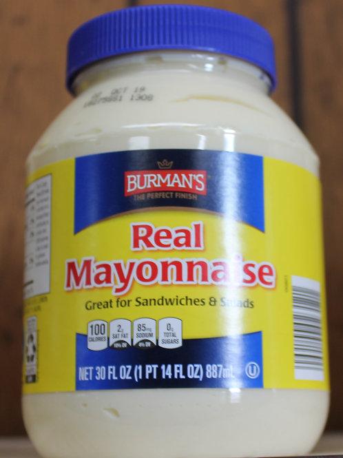Burman's Real Mayo 30 oz