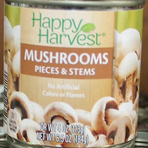 Happy Harvest Mushroom Stems and Pieces 6.5 oz