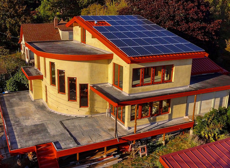 1960s home remodeled with energy-efficient and non-toxic hempcrete