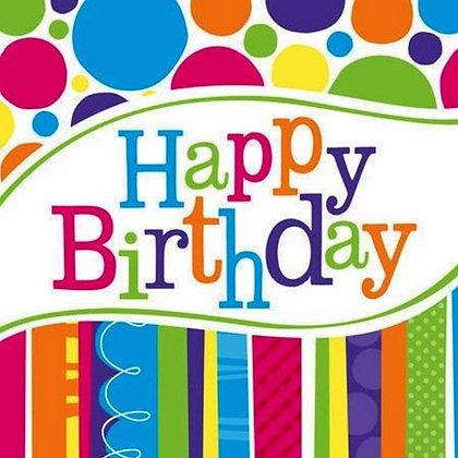 Servilleta Bright Birthday