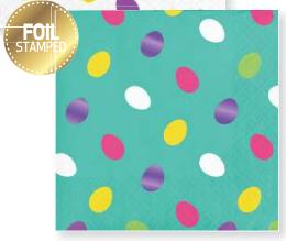 Servilleta Easter Foil Stamped