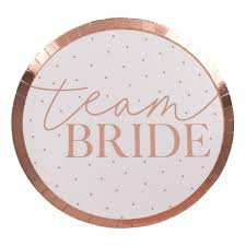 Team Bride Plates ginger ray