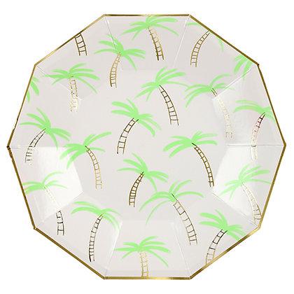 Plato Grande Palm Trees