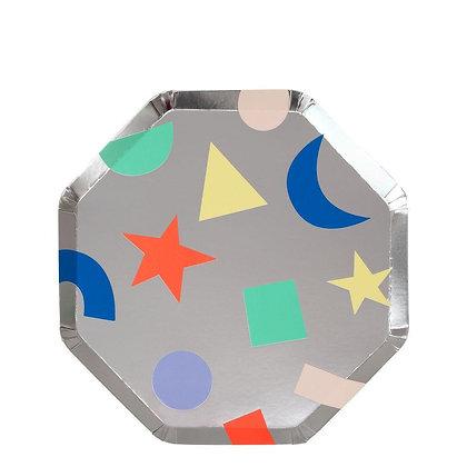 Silver Geometric Side Plates
