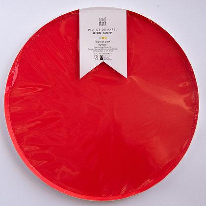 Plato Grande Rojo Tin Marin