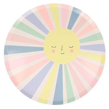 Rainbow Sun Plates