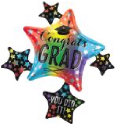 Globo congrats Grad Colores Multiballoon