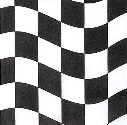 Servilleta Black and White Check