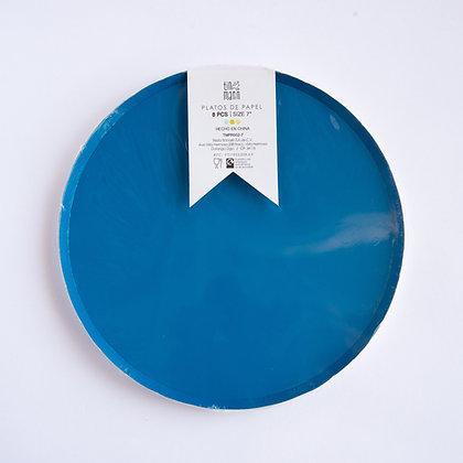 Plato Chico Azul Rey Tin Marin