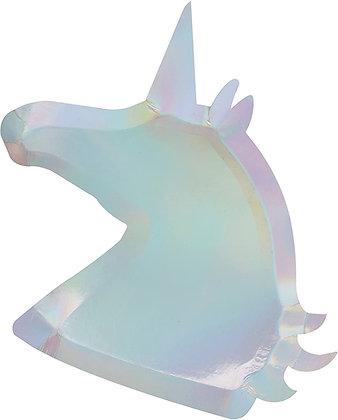Iridescent Unicorn Plates ginger ray